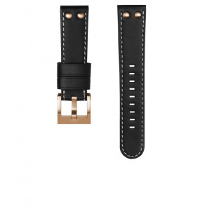 TW Steel Uhrenarmband CE105 Leder Schwarz 22mm