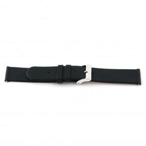 Echt Leder Uhrenarmband 20mm schwarz EX-J56