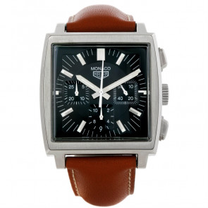 Uhrenarmband Tag Heuer CS2111-BC0788 Leder Braun 22mm