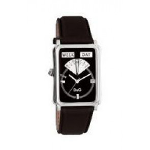 Uhrenarmband Dolce & Gabbana DW0122 Leder Schwarz