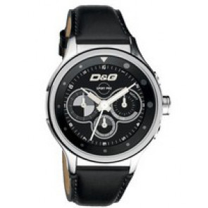 Uhrenarmband Dolce & Gabbana DW0211 Leder Schwarz 20mm