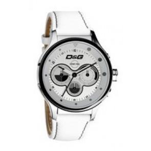Uhrenarmband Dolce & Gabbana DW0212 (F357000728) Leder Weiss
