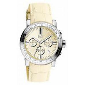 Uhrenarmband Dolce & Gabbana DW0678 Leder Beige 22mm
