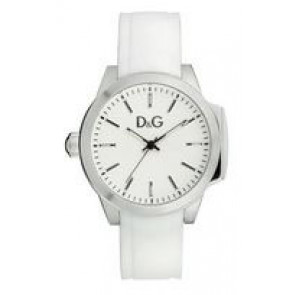 Uhrenarmband Dolce & Gabbana DW0746 Kautschuk Weiss 18mm