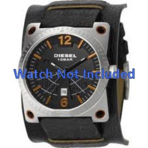 Uhrenarmband DZ1212 Leder Schwarz 28mm
