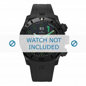 Uhrenarmband Edox 10020-37N-NV Silikon Schwarz 22mm