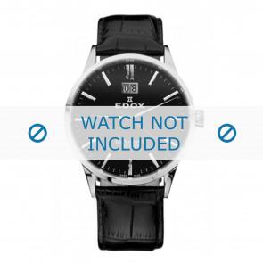 Edox Uhrenarmband 63001-3-NIN Leder Schwarz 21mm + standardnähte