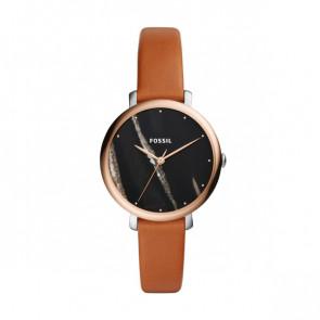 Uhrenarmband Fossil ES4378 Leder Cognac 14mm
