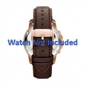 Fossil Uhrenarmband FS-4648 Leder Braun 22mm