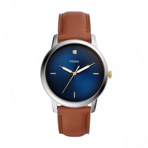 Uhrenarmband Fossil FS5499 Leder Cognac 22mm