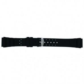 Uhrenarmband Universal SL100 Silikon Schwarz 24mm