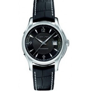 Uhrenarmband Hamilton H001.32.515.535.01 / H600325101 Leder Schwarz 20mm