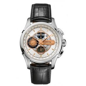 Uhrenarmband Hamilton H32696751 Leder Schwarz 22mm
