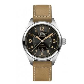 Uhrenarmband Hamilton H001.70.505.833.01 Leder Beige 20mm