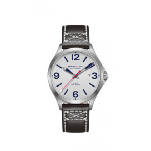 Uhrenarmband Hamilton H76525751 Leder Schwarz 20mm
