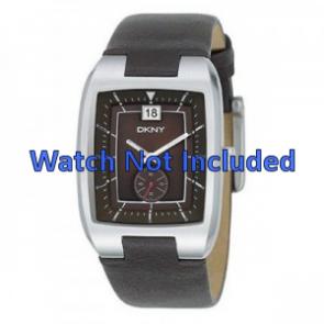 DKNY Uhrenarmband NY1319 Leder Braun 20mm