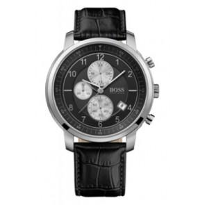 Uhrenarmband Hugo Boss HB-137-1-14-2352 Leder Schwarz 22mm