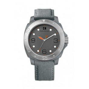 Uhrenarmband Hugo Boss HB-142-1-29-2395 / HO1512666 Textil Grau 22mm