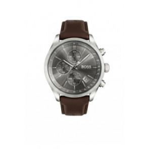 Uhrenarmband Hugo Boss HB-297-1-14-2956 / HB659302764 Leder Dunkelbraun 22mm