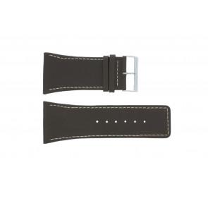 Uhrenarmband Universal P310 Leder Braun 38mm