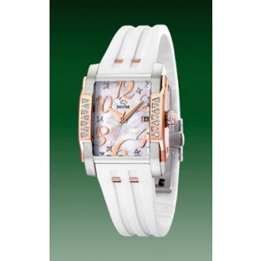 Uhrenarmband Jaguar J648-1 Kautschuk Weiss