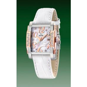 Uhrenarmband Jaguar J648-3 Leder Weiss
