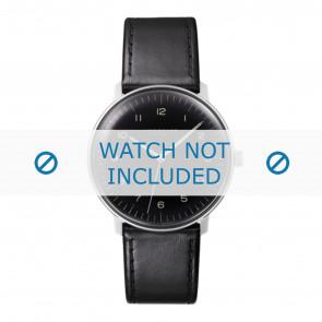 Junghans Uhrenarmband 027/3400.00 Leder Schwarz 20mm + standardnähte