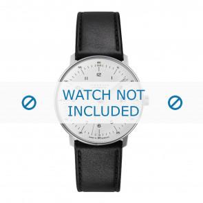 Junghans Uhrenarmband 027/4700.00 Leder Schwarz 20mm + standardnähte