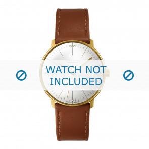 Junghans Uhrenarmband 027/7700.00 Leder Cognac 20mm + standardnähte