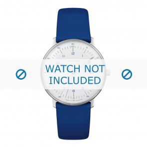 Uhrenarmband Junghans 047/4540.00 Leder Blau 18mm