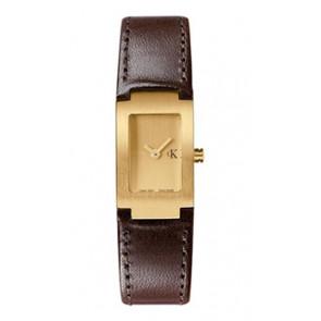Uhrenarmband Calvin Klein K600026550 / K0411209 Leder Braun