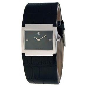 Uhrenarmband Calvin Klein K04281.46 / K600.028.750 Leder Schwarz