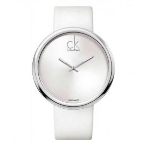 Uhrenarmband Calvin Klein K0V23120 Leder Weiss 22mm