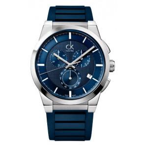 Uhrenarmband Calvin Klein K2S371 Kautschuk Blau
