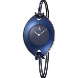 Uhrenarmband Calvin Klein K33237 Leder/Textil Blau