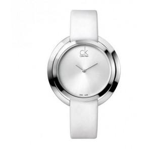Uhrenarmband Calvin Klein K3U231 Leder Weiss
