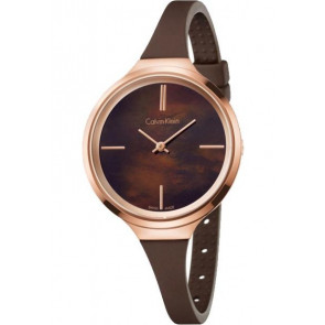 Uhrenarmband Calvin Klein K4U236 Kautschuk Braun