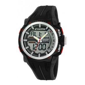 Uhrenarmband Calypso K5539-1 Kautschuk Schwarz