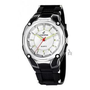 Uhrenarmband Calypso K5560-1 Kautschuk Schwarz