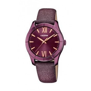 Uhrenarmband Calypso K5718/5 Leder Lila 17mm