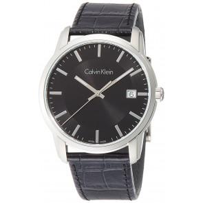 Uhrenarmband Calvin Klein K5S 311 Leder Schwarz