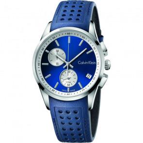 Uhrenarmband Calvin Klein K600.000.258 / K5A371VN Leder Blau