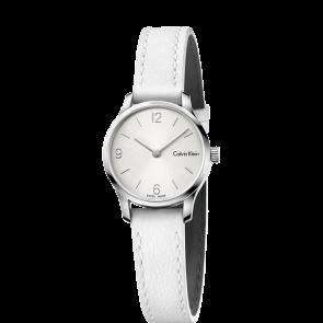 Uhrenarmband Calvin Klein K7V231 Leder Weiss 12mm