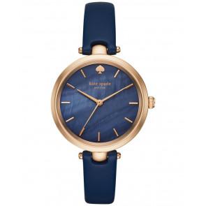 Uhrenarmband Kate Spade New York KSW1157 Leder Blau 6mm