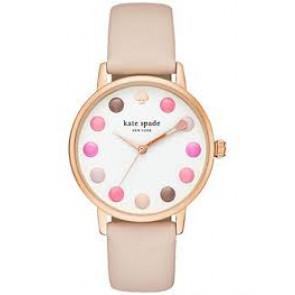 Uhrenarmband Kate Spade New York KSW1253 Leder Beige 16mm