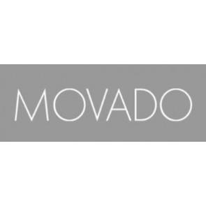 Movado Uhrenarmband 81-A1-840 LM-43 Leder Rot 15mm + standardnähte