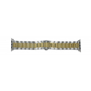 Apple (Ersatzmodell) Uhrenarmband LS-AB-106 (Bi-color) Stahl Gold (Doublé) 42mm
