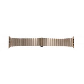Apple (Ersatzmodell) Uhrenarmband LS-AB-107 Stahl Gold (Rosa) 42mm