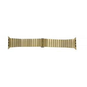 Apple (Ersatzmodell) Uhrenarmband LS-AB-107 Stahl Gold (Doublé) 42mm