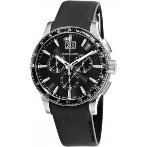 Uhrenarmband Maurice Lacroix MI1098 / AQ60872 / ML640-000020 Silikon Schwarz 18mm